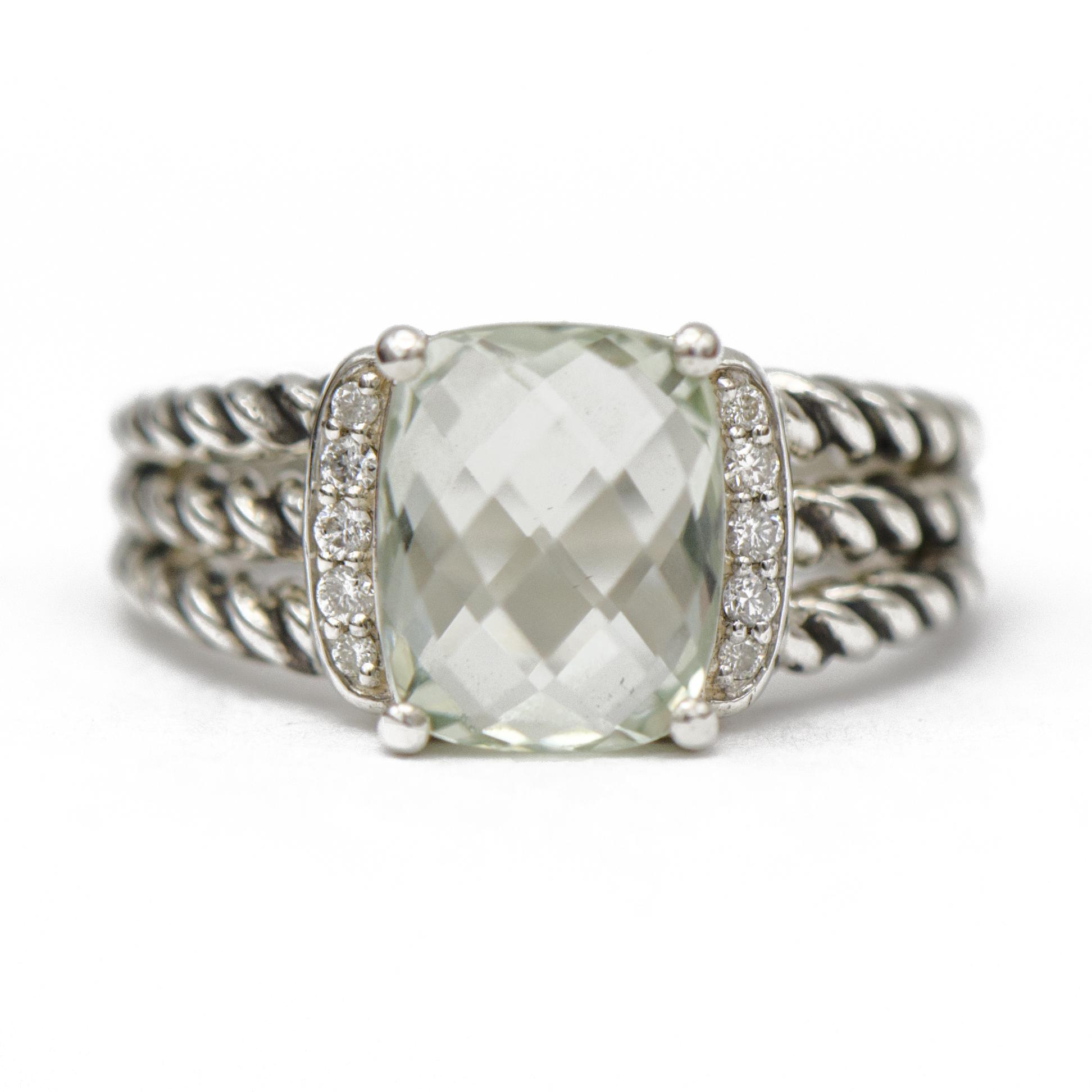 David Yurman Prasiolite Petite Wheaton Ring Sandler S Diamonds Time Columbia Sc Mt Pleasant